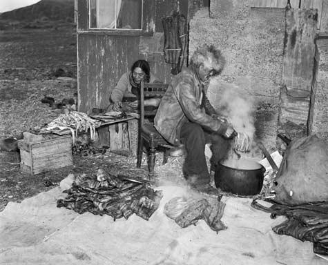 Preparing eels