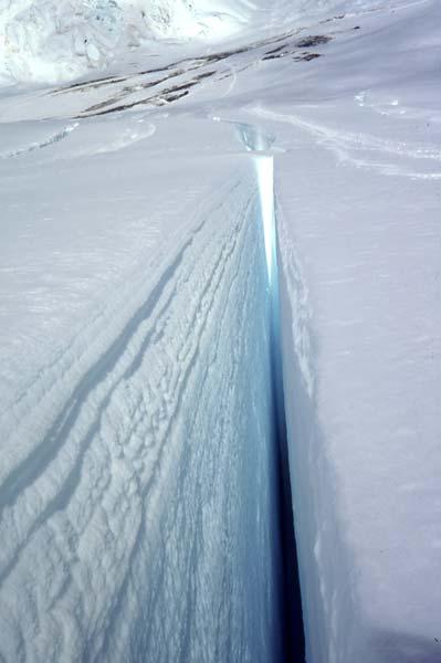 Crevasse, Linda Glacier