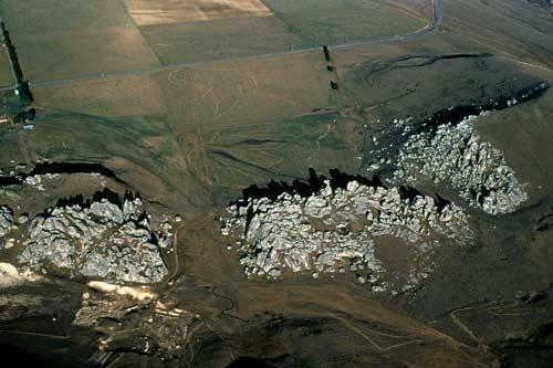 Limestone outcrops at Kura Tawhiti