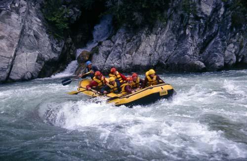 Rafting down the Buller River