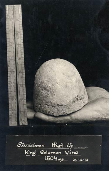 King Solomon mine nugget, 1931