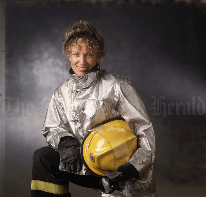 Anne Barry, firefighter