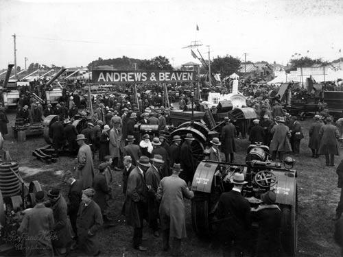 Tractors on display