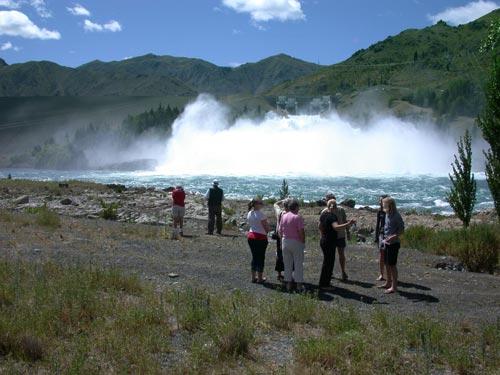 Benmore dam spillway