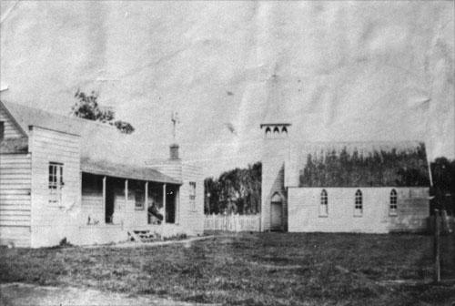Catholic mission station, Meeanee, 1850s