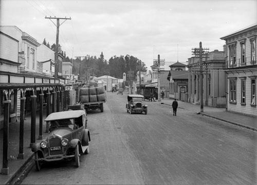 Main street, Waipawa, about 1927