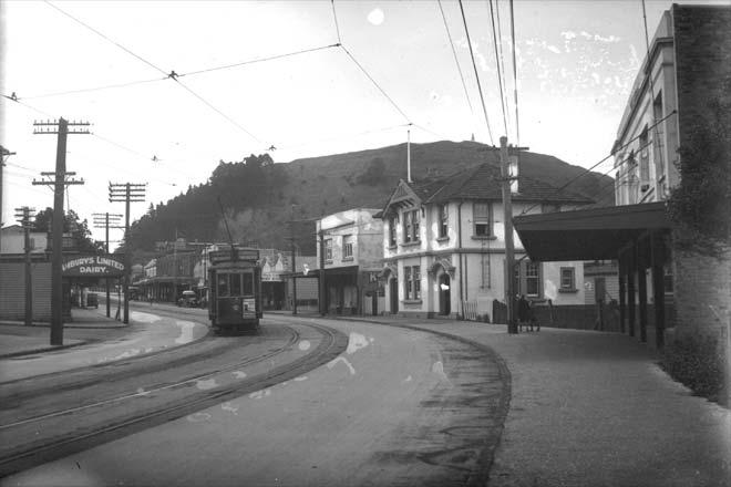 Electric tram, around 1920