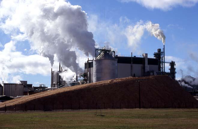 Tasman pulp and paper mill in Kawerau, Bay of Plenty