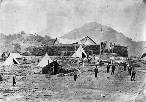 Taranaki Military Settlers at Kaitake redoubt