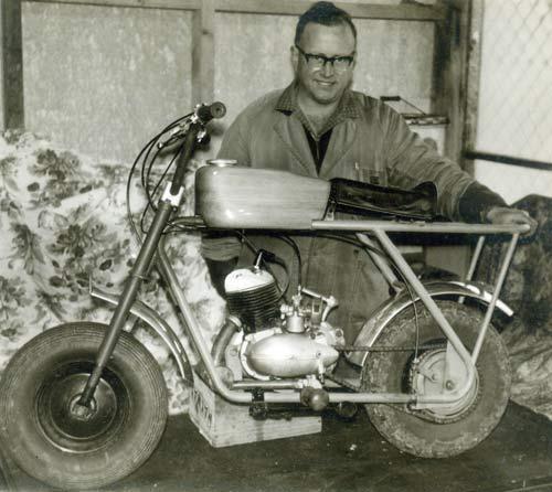 Callender's first farm bike
