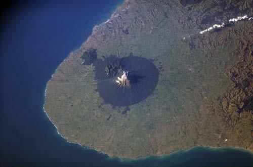 Satellite image of Egmont National Park