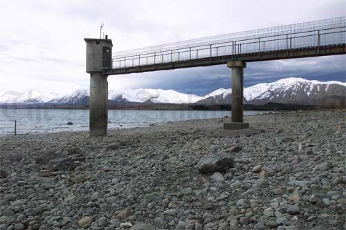 Lake Tekapo during a winter drought