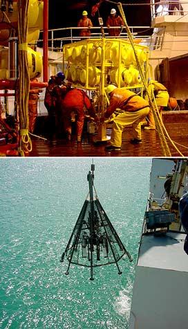 Sea-floor sampling equipment