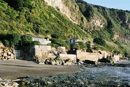 Sea walls, Twelve Mile Bluff