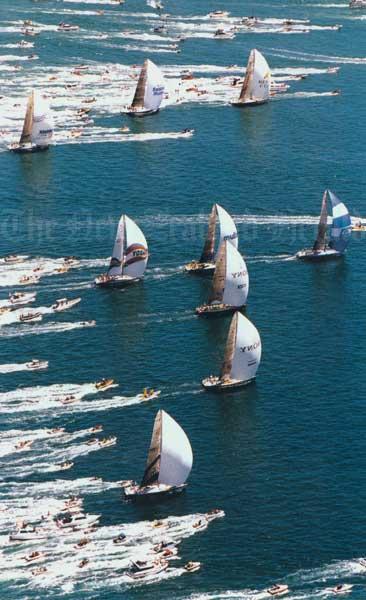 Whitbread fleet leaves Auckland, 1998