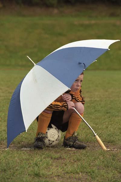 Sidelined by rain