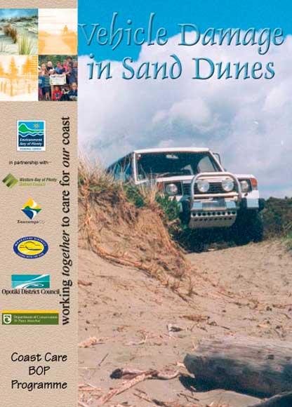 Pamphlet on vehicle damage to sand dunes