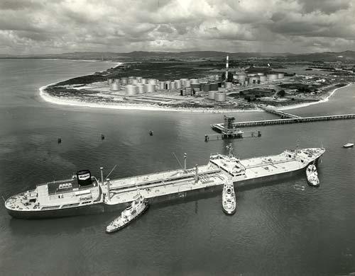 Oil tanker at Marsden Point