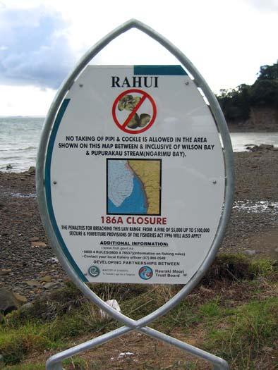 Rāhui sign, Hauraki