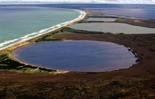 Coastal lakes, Chatham Island