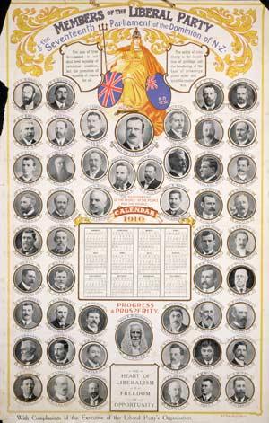 Liberal Party calendar, 1910