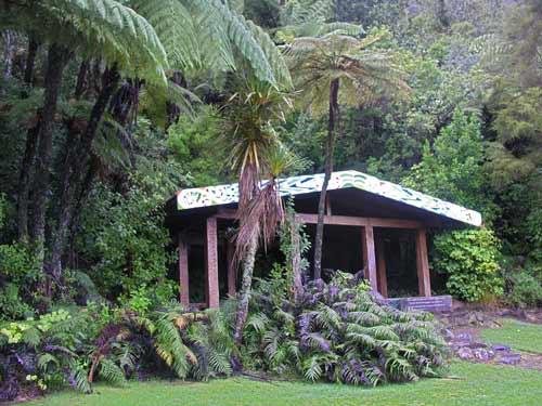 Memorial shelter at Lake Okataina