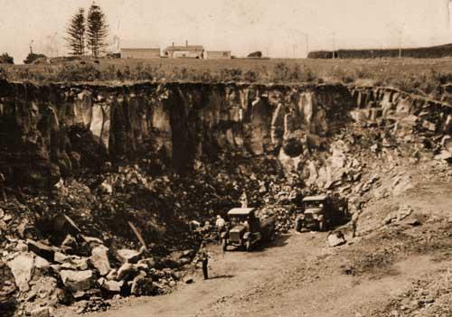 Mt Wellington quarry