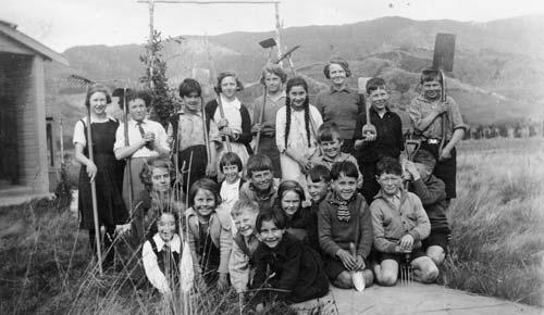 Gardening at school, 1936