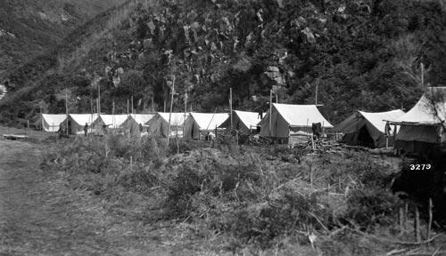 Relief workers' camp, Kāingaroa