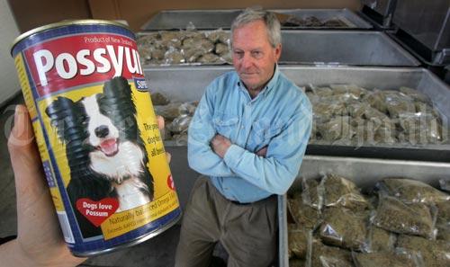 Possum dog food