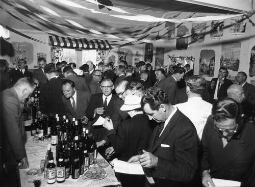 Wine tasting, 1959