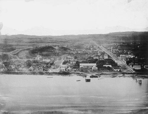 Whanganui town, 1850s