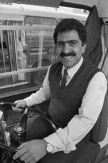 An Iranian refugee