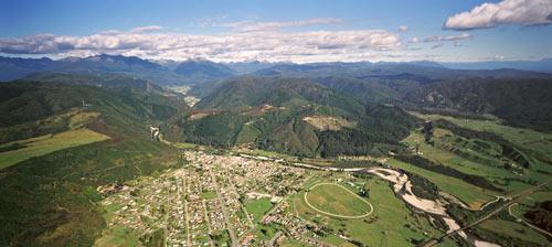 Aerial view of Reefton