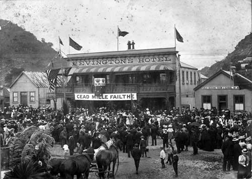 Political gathering, Greymouth