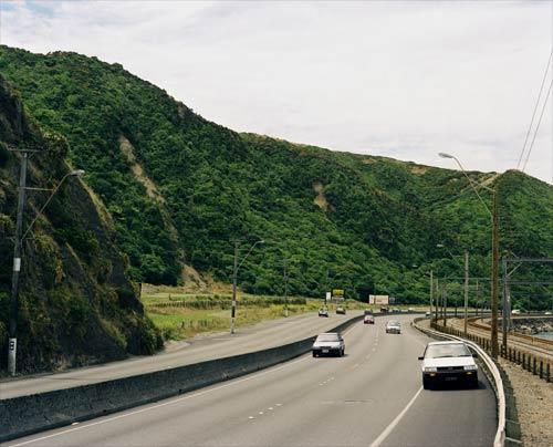 The landslide site today