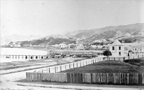 Wellington shoreline after the 1855 earthquake