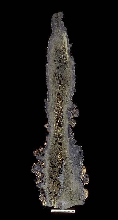 Black smoker hydrothermal chimney