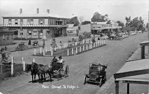 Main Street, Te Puke, 1917