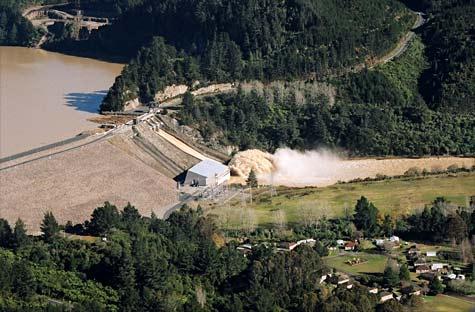 Floodway, Lake Matahina