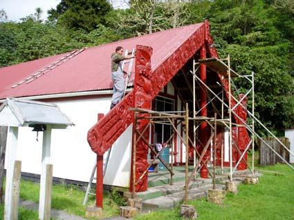 Meeting house restoration, Minginui