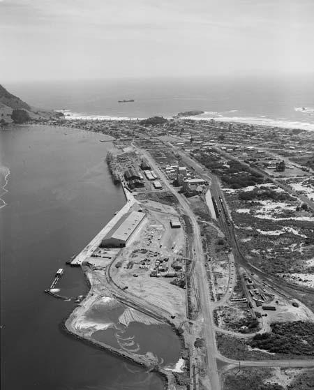 Port at Mt Maunganui, 1962