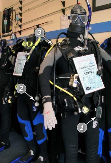 Modern diving equipment