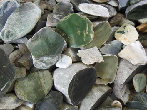 Pounamu boulders