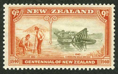 Goldmining postage stamp