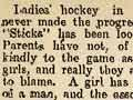 Hockey 'suitable for girls'?, 1914