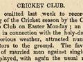 'Bachelors vs benedicts' cricket game, 1854