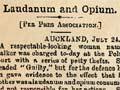A laudanum and opium user