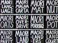 New Zealand language in art