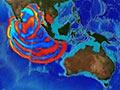 Tsunami spread, 2004